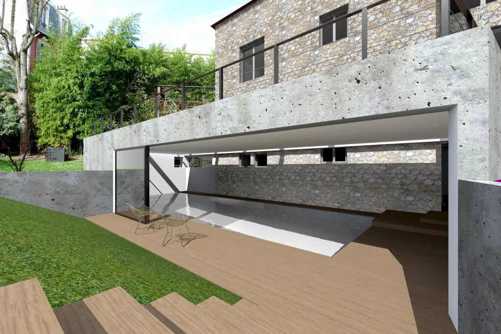 Pm4 concretepool for Construction piscine couverte